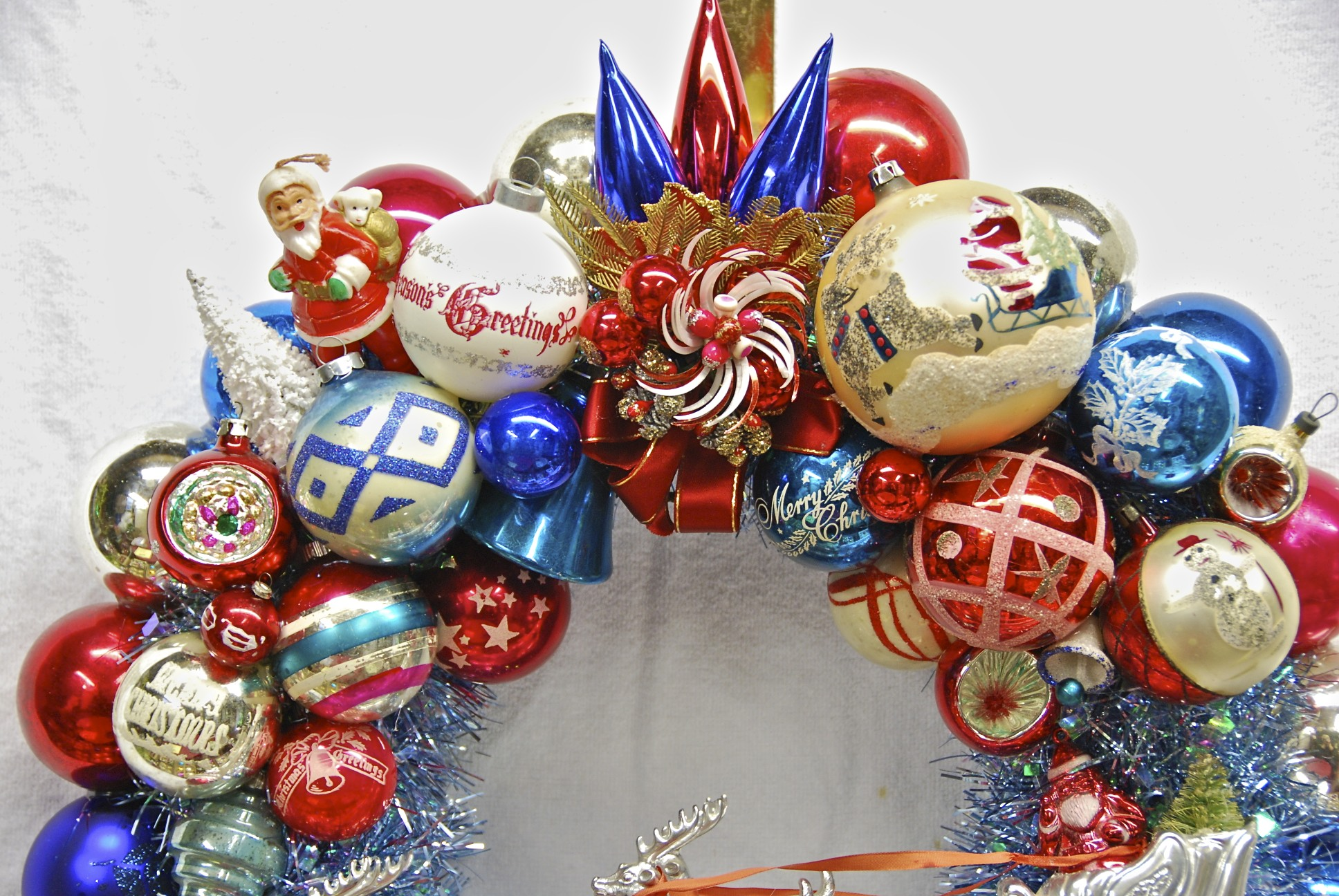 Red white and blue christmas decorations diepedia