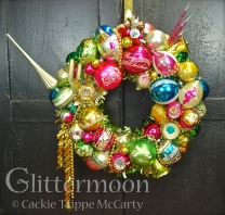 Hot colors blend to create a showstopper of a wreath. Accented with an Italian unbreakable topper and tons of other great stuff. Wow. $275 ** SOLD **