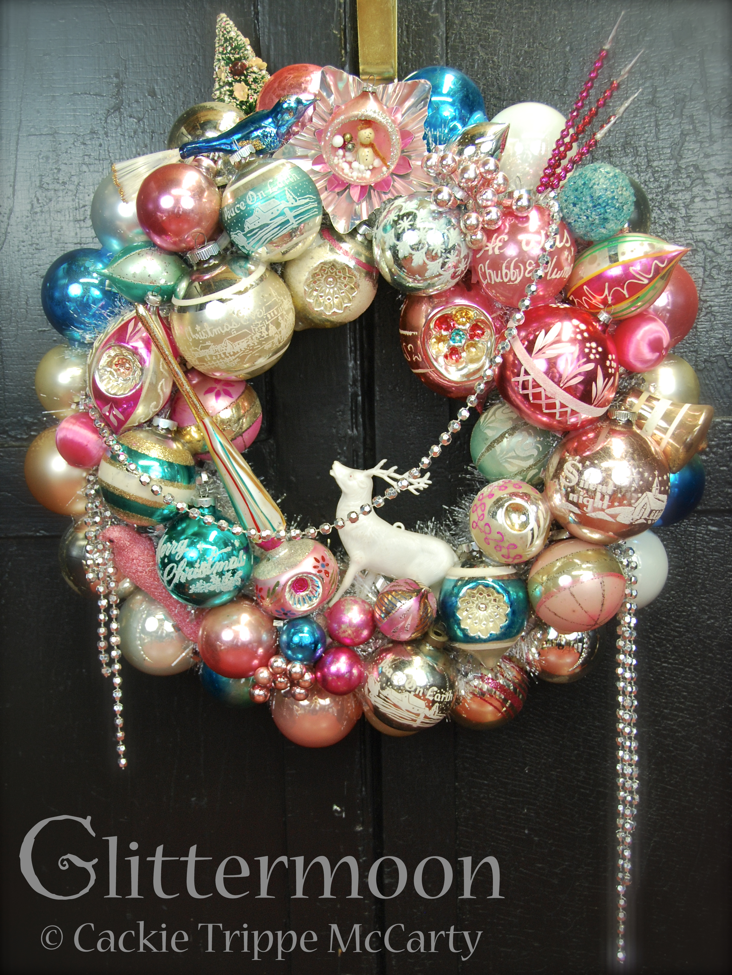 Pink Moon Glittermoon Vintage Christmas