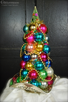 """Christmas Jewels Topiary About 17"""" tall $95 *SOLD*"""