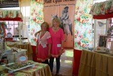 The delightful PINK-EYED SISSIES, Sandy and Sue, who make creative jewelry from vintage pieces. They are a delight to be around.