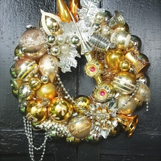 "Fabulously rich, Gold Dust is a wreath for the sophisticate. 17"" $215 ** SOLD **"