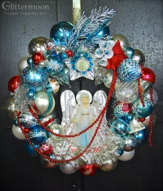 """Ice Angel The angel is an old topper - she lights up! 20"""" diameter $250 SOLD"""