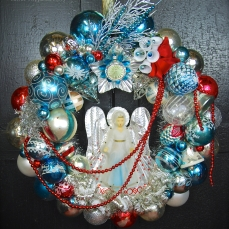 "Ice Angel The angel is an old topper - she lights up! 20"" diameter $250 SOLD"