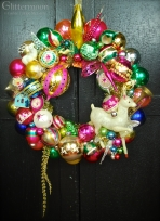 """Reindeer Razzle Dazzle 20"""" diameter $275 **SOLD**"""