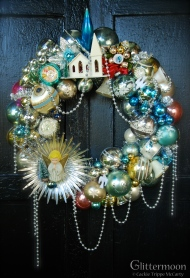 """The lovely Angel of the Morning Wreath $265 with storage bag - Approx. 20"""" diameter *SOLD*"""