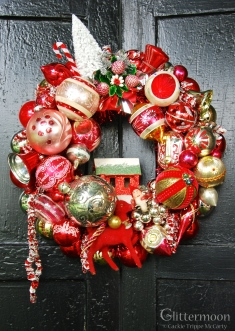 For the red lover,Berry Merry Wreath - Approx. 17 inches - $195 with storage bag ** SOLD **
