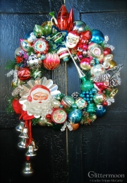 Christmas in the Woods Wreath Approx. 20 inches diameter $275 with storage bag ** SOLD **