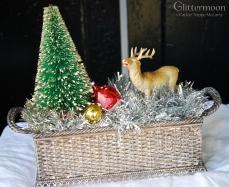 Deer and Tree Christmas Scene