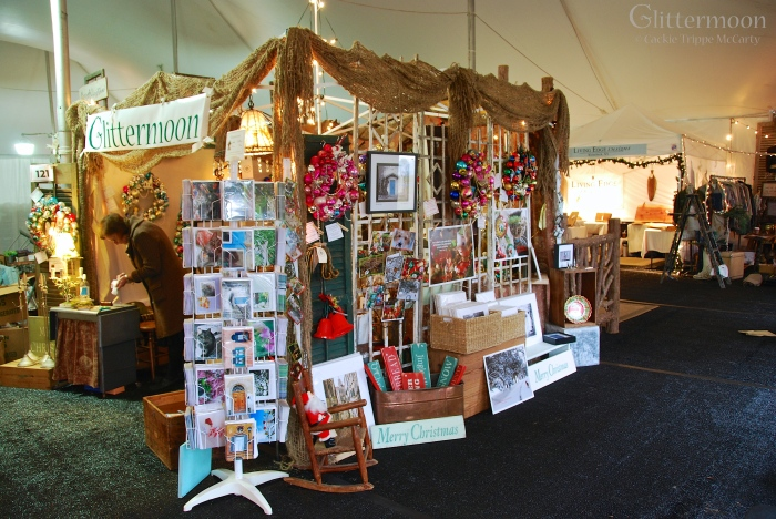 Glittermoon Booth at Country Living Holiday Bazaar 2013