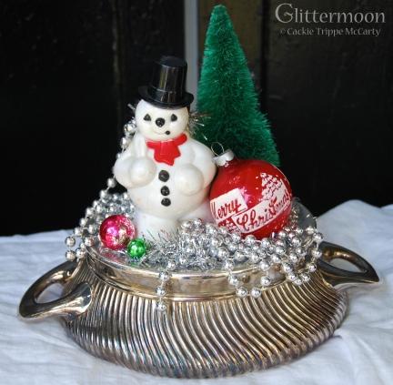 Snowman Scene Topiary *SOLD*
