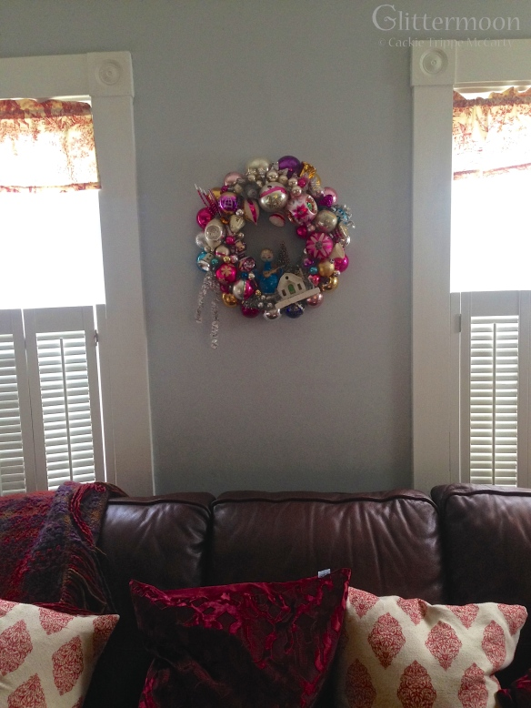Susan's Pink Memories Wreath at Home