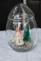 Elf under glass mini topiary