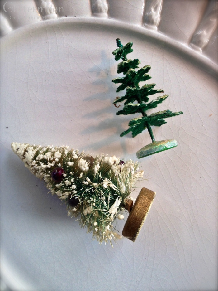 Two tiny little trees