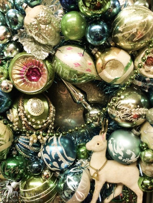 SEA HOLLY Wreath ©Glittermoon Vintage Christmas 2014