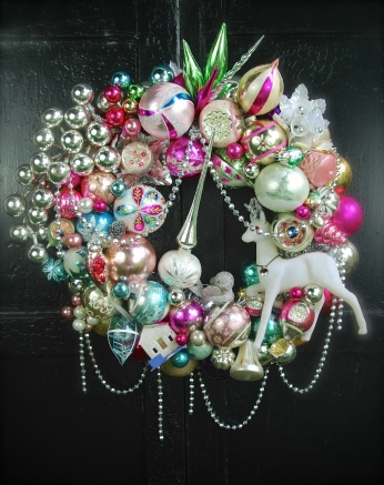 """A custom wreath for someone who requested """"something spectacular"""" in pastel colors. $350 *SOLD*"""