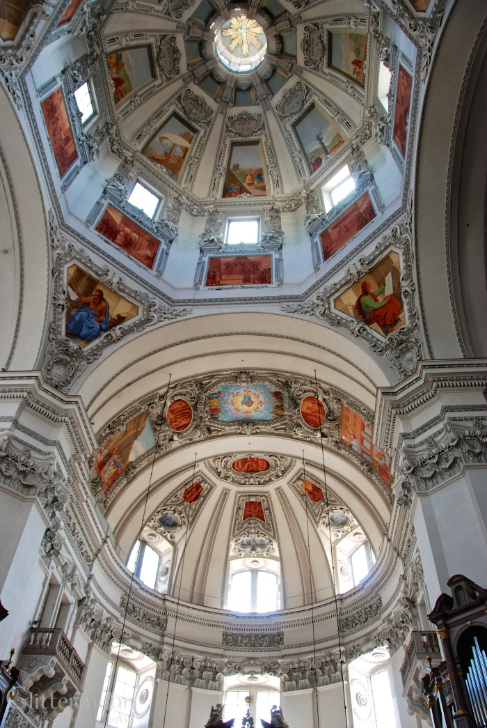 A glorious ceiling in a Salzburg church