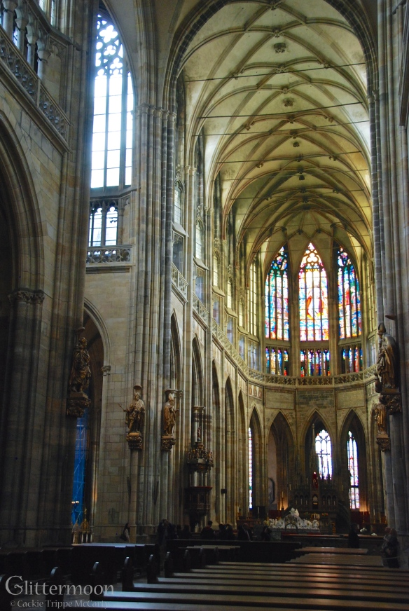 The beautiful, soaring Gothic cathedral of St. Stephen's in Prague