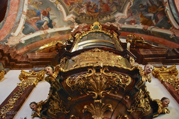 Over-the-top decoration in the Loreto Church in Prague