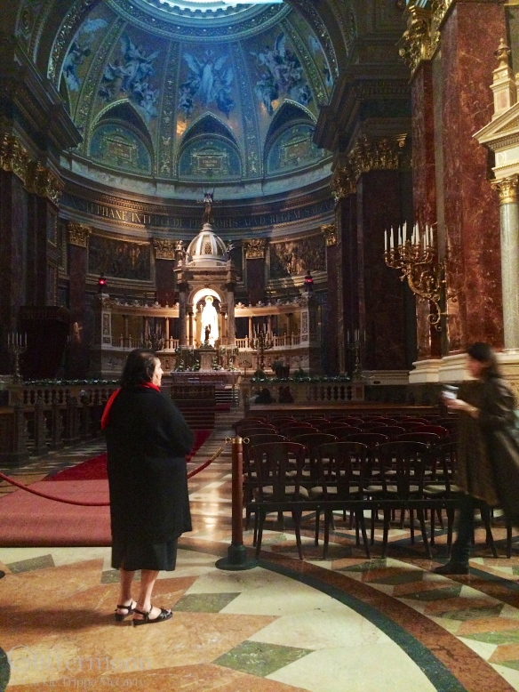 A moment of peace inside St. Stephen's Cathedral in Budapest, on Easter Sunday
