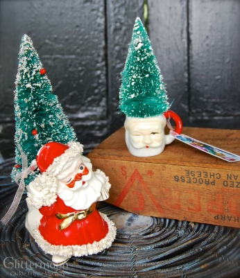 Little mini Santa topiaries