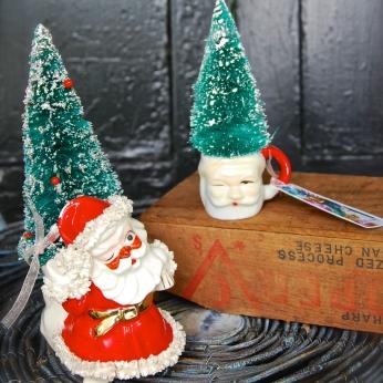 Little mini Santa topiaries