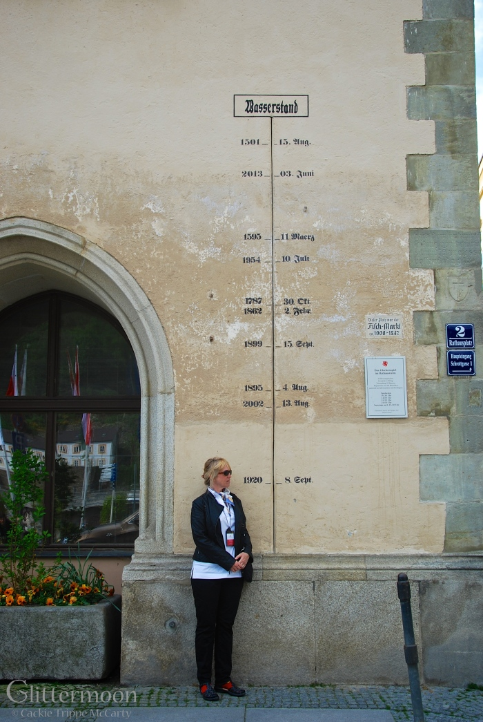 Flood marks in Passau, Germany