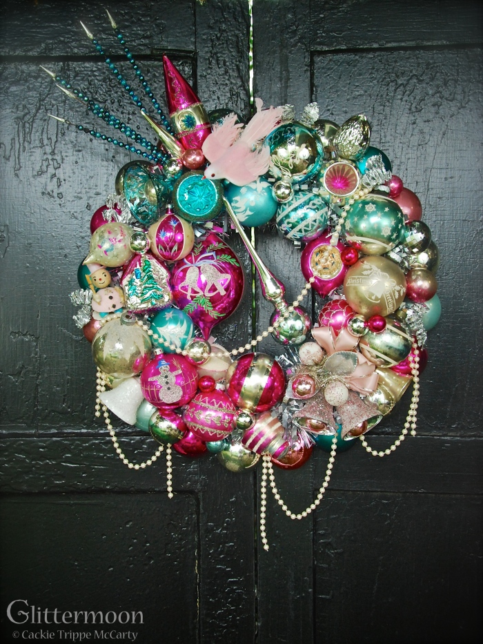 Pink Dove Wreath