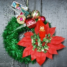 Pixie Poinsettia mini wreath - $65 *SOLD *