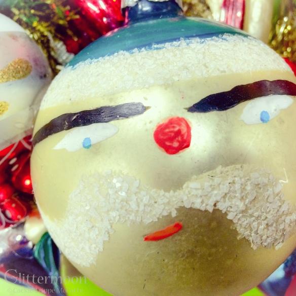 Ho Ho Ho.  I love this Santa ornament.  He was pretty hard to part with.