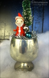 Itty bitty Lunt pewter cup with a tiny Santa and tree $22 *SOLD*