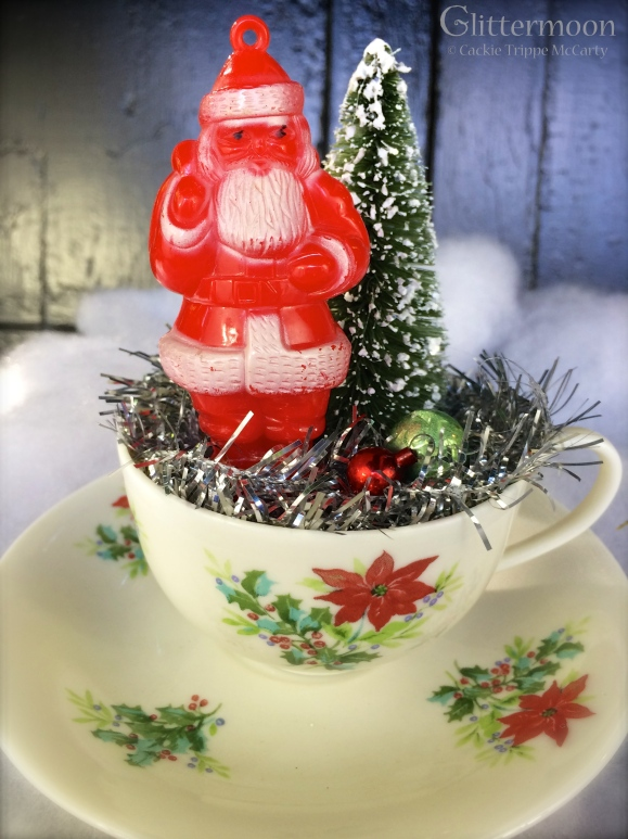 Claus in a cup! $32 *SOLD*