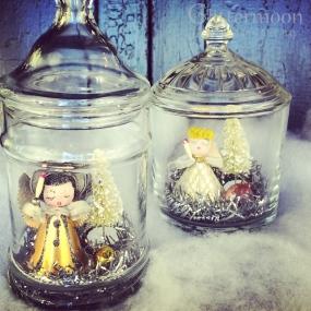 Darling old Japan angels in glass jars $32 each * SOLD *