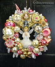 Cloud Nine Wreath. Pretty pastels with a very special angel. Custom order. *SOLD*