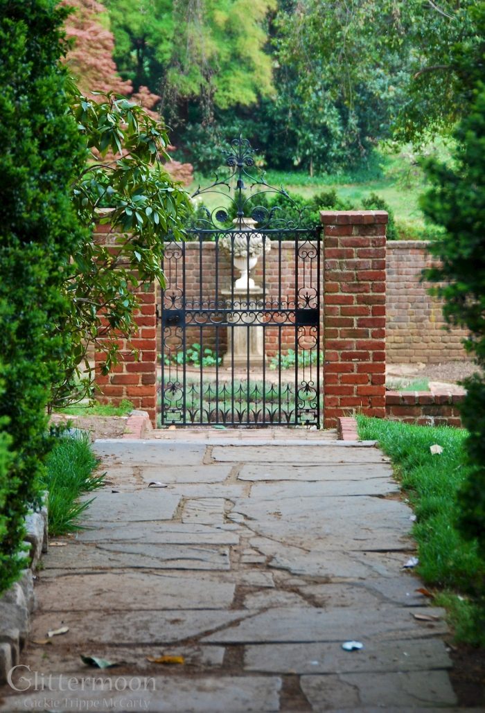 Beautiful garden gate at Agecroft Hall, Richmond, VA
