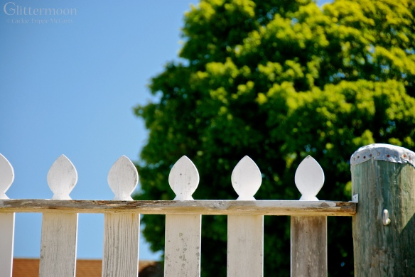 A charming picket fence at Mystic Seaport.