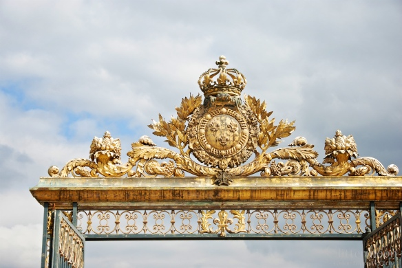 The grandest of all - theentrance to the Palace of Versailles