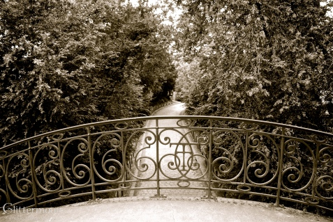 Pont au Trianon. Iron tracery near the Trianon palaces at Versailles