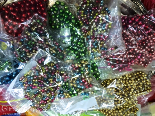 Bags and bags of glass garland