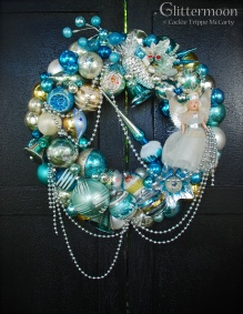 Shabby Sweet - So beautiful, a plethora of soft blues with a touch of silver and white. $295 *SOLD*