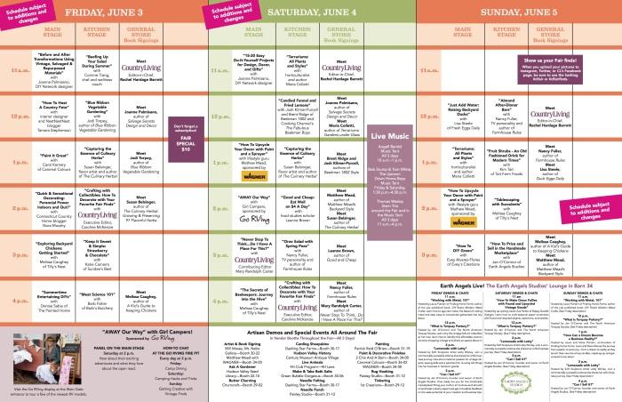 Rhinebeck schedule