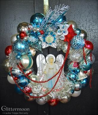 """Ice Angel"" wreath 2013 Glittermoon Productions LLC"