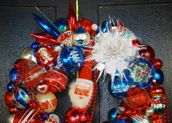 Detail of Patriotic Parade Wreath