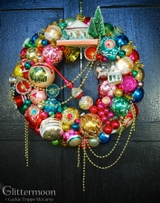 Custom order for Margaret using her late mom's ornaments with some of mine mixed-in